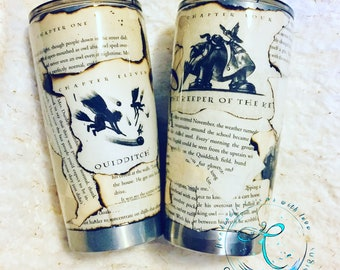 Harry Potter Tumbler ~  Real Book Pages
