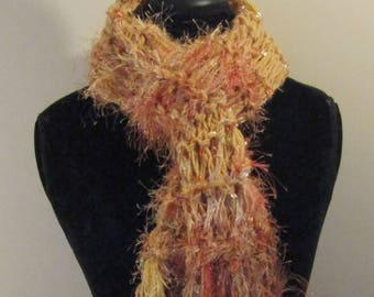 Orange Scarf, Fall Harvest scarf, Harvest Scarf, Gold Scarf, Orange Color Scarf, Girly Girl Scarf