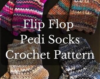 613c73767ee611 Flip Flop Sock Crochet Pattern