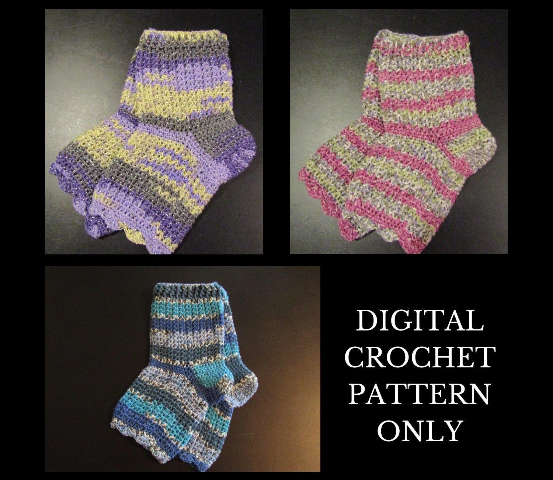 Crochet Pattern Pedicure Sock Crochet Pattern Flip Flop Sock Etsy