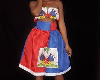 Haitian Skirt Etsy