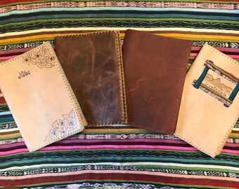 Handcrafted Leather Notebook Holder
