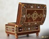 Wedding gift idea Jewellery box Handmade box wooden box mosaic box inlay with mother of pearl birthday gift