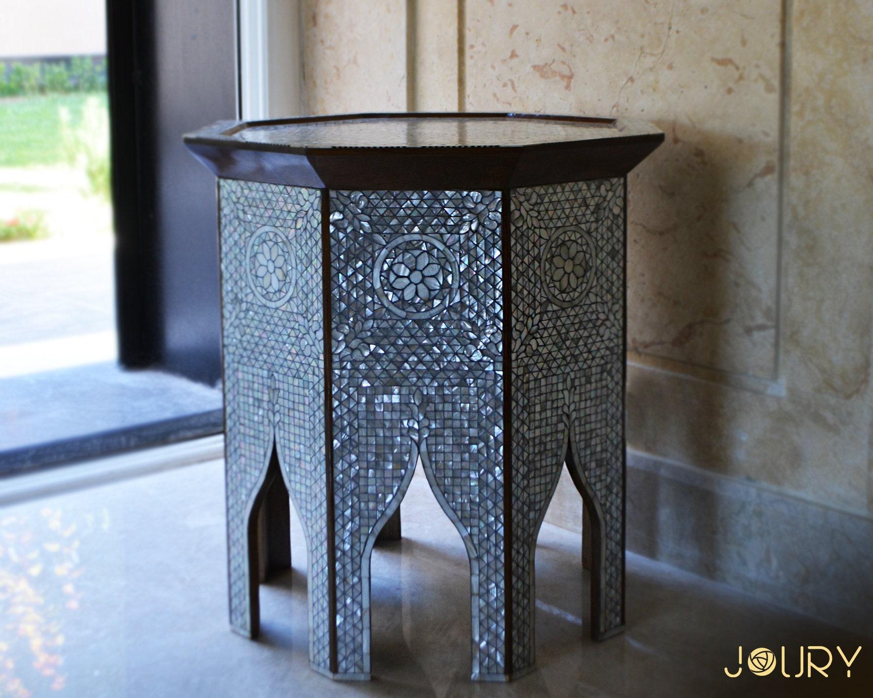 Mother of Pearl voller Intarsien Tisch handgefertigt   Etsy