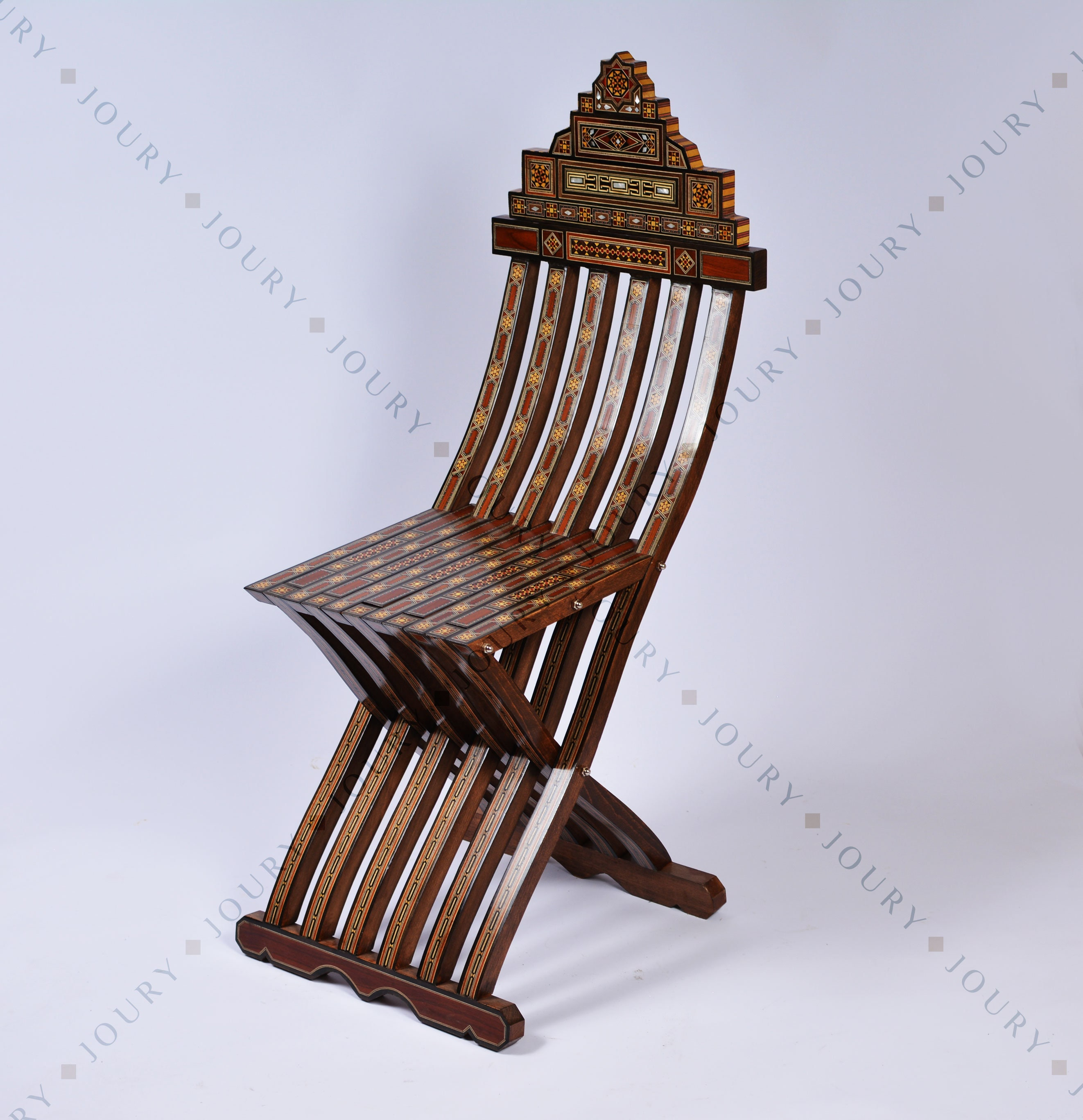 Handmade Vintage Wooden Chair Folding Chair Home Decor Vanity Chair Mosaic Chair Side Chair Inlaid With Mother Of Pearl