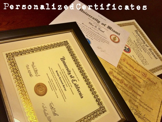 personalized certificates awards
