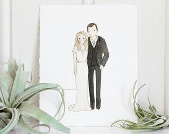 Wedding Portrait   Couple Illustration   Custom Portrait   Portrait   Watercolor   Hand Painted   Wedding Gift