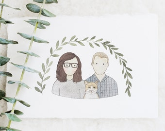 Couples Portrait | Bust Illustration | Family Portrait Illustration | Custom Portrait | Couple Illustration | Watercolor | Hand Painted