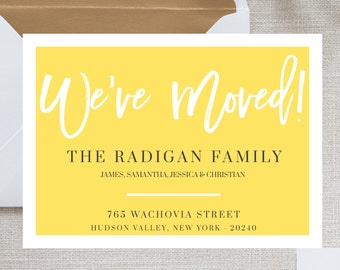 We Moved Card Template Moving Announcement Weve New Home Change Of Address Postcard Im Digital Download