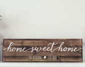 Home Sweet Home Wooden Sign - Housewarming Gift - House Sign - Wedding Gift, New Home Gift, Realtor Gift HS05