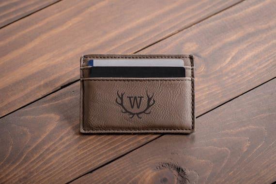 Gravé personnalisé argent Clip - garçon d'honneur cadeau - cadeau pour homme, portefeuille en cuir personnalisé argent Clip - personnalisé - cadeau ami #4111