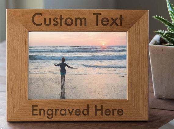 Personalized Frame Custom Engraved Wood Picture Frame Gift Etsy