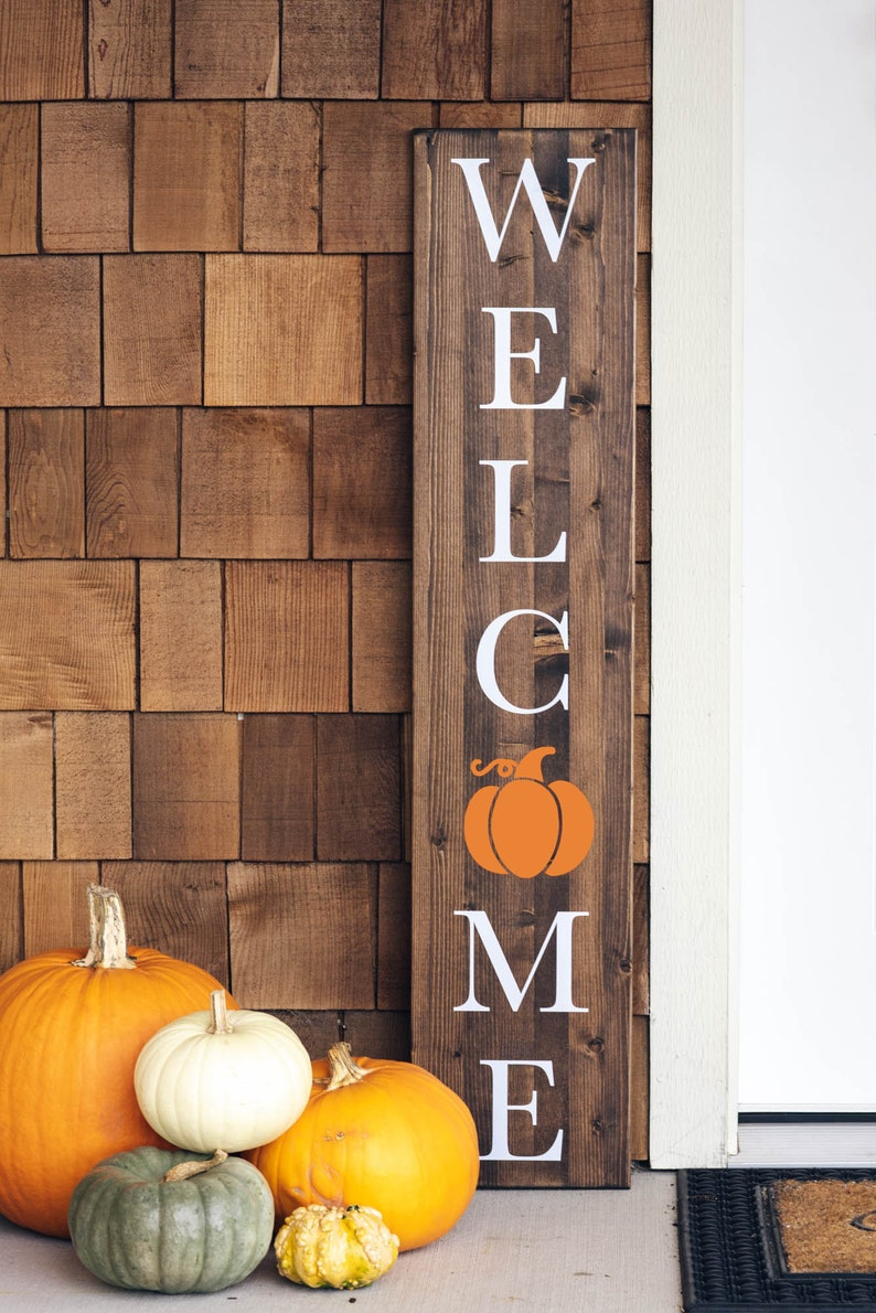 Fall Welcome Sign  Thanksgiving Porch Decor  Autumn  image 1