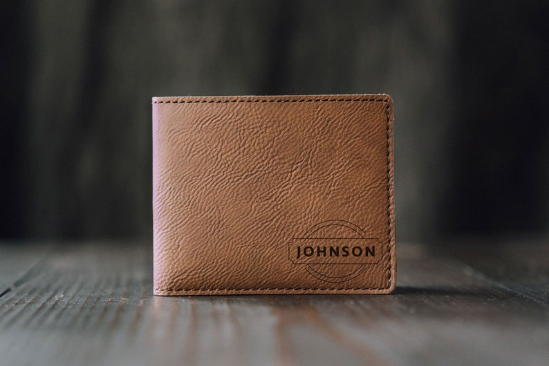 c91f7f4bc2c7f Personalized Men s Wallet Custom Engraved Leather Wallet