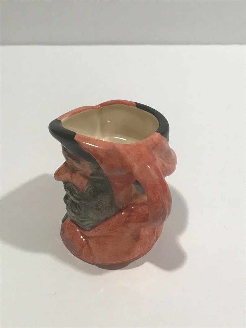 SPRING SALE Royal Doulton Falstaff Mini Toby Character Porcelain Mug.VINTAGE Unique Rare