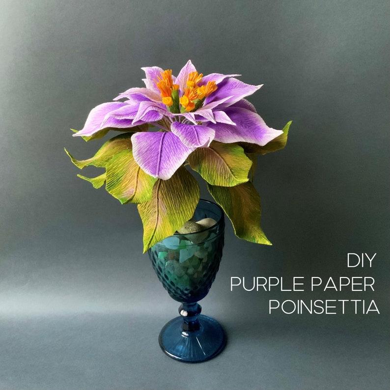 DIY crepe paper Poinsettia Christmas decoration
