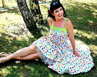 Pinup dress 'Daisy dress in Bubble gum', PLUS SIZE AVAILABLE, rockabilly dress