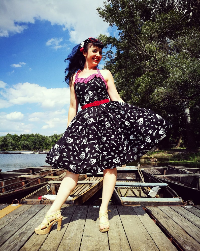 586aa5b592c Pinup dress  Tropic dress in Pirates  Ready to ship
