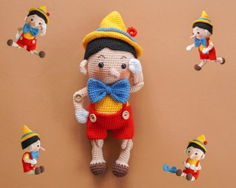 Pinocchio (Amigurumi Crochet PDF Pattern by Aquariwool)