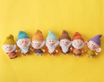 Little Dwarfs (Amigurumi Crochet PDF Pattern by Aquariwool)