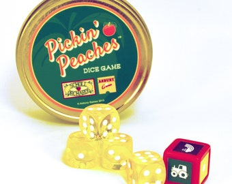 Pickin' Peaches Dice Game   Family Game Night Fun   Inspired by Scholl Orchard's Bethlehem, Pa