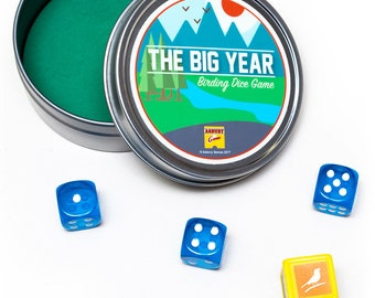Bird Watching Dice Game   The Big Year Birding Dice Game   Pocket Size for Traveling Birders   Family Game Night Fun