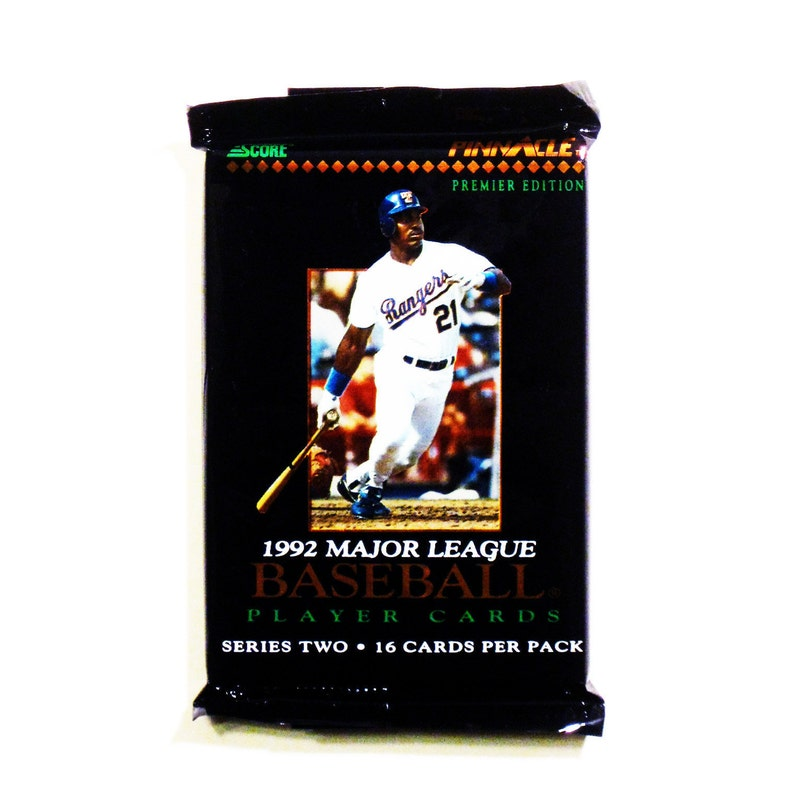 1992 Score Premier Series Two Unopened Pack