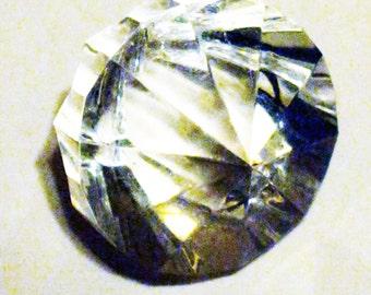 """Vintage Plastic """"Diamond"""" Gem"""
