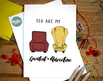 Anniversary Card Disney Pixar UP 'You Are My Greatest Adventure!' Greeting Card for Husband, Wife, Girlfriend and Boyfriend!