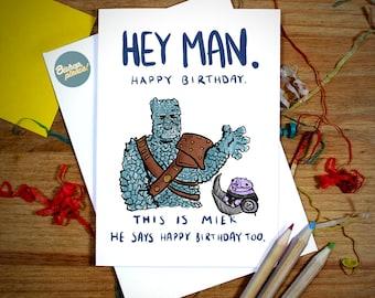 Korg Birthday Card - Thor Ragnarock, Asgard, Marvel, Korg and Miek, Marvel Birthday Card, Avengers Birthday Card, Infinity War