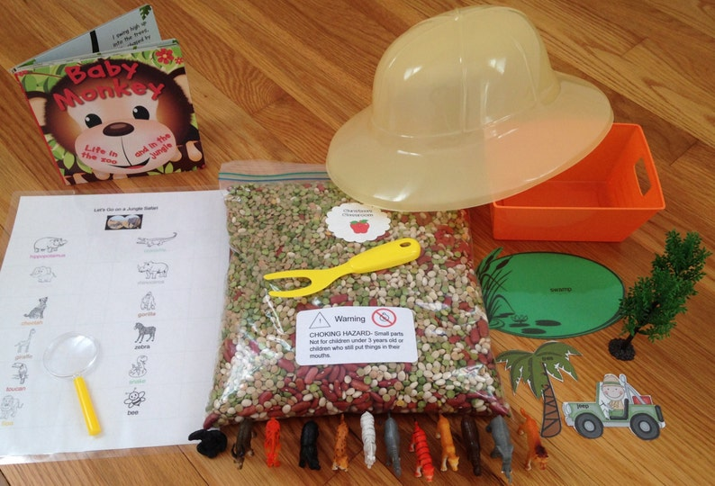 1b2fe4aa72ac6 Sensory Bin for Children Jungle Safari