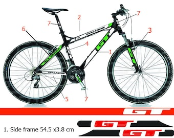 GT Bike frame sticker Autocollant Bicycle Mountain Restoration Sticker MTB  BMX the frame 993ca449c