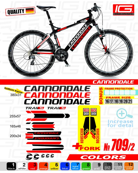 cannondale sticker  CANNONDALE Sticker Bike Frame Autocollant Bicycle Mountain | Etsy