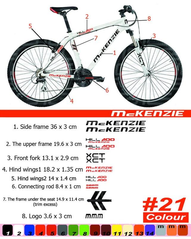 McKENZIE Fahrrad Rahmen Aufkleber Autocollant Fahrrad Berg | Etsy