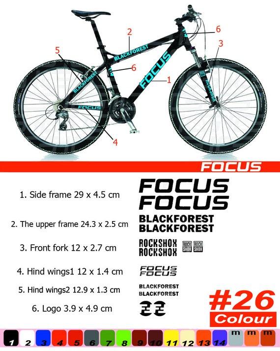 FOCUS Bike Frame Sticker/Autocollant | Etsy