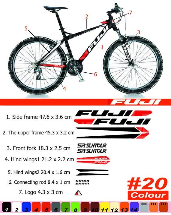 Marco FUJI bicicleta marco etiqueta engomada/Autocollant