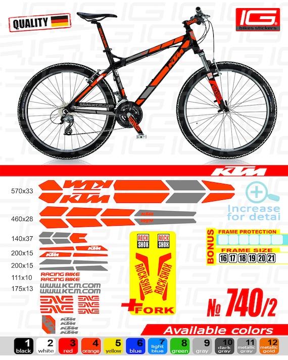 ktm sticker bike frame autocollant ktm bicycle mountain ktm | etsy