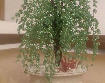 Weeping Willow bead, Bonsai tree beads