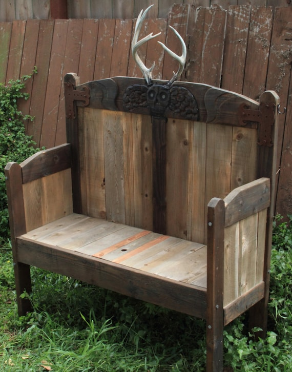 Groovy Horned Deaths Head Outdoor Storage Pew Bench Caraccident5 Cool Chair Designs And Ideas Caraccident5Info