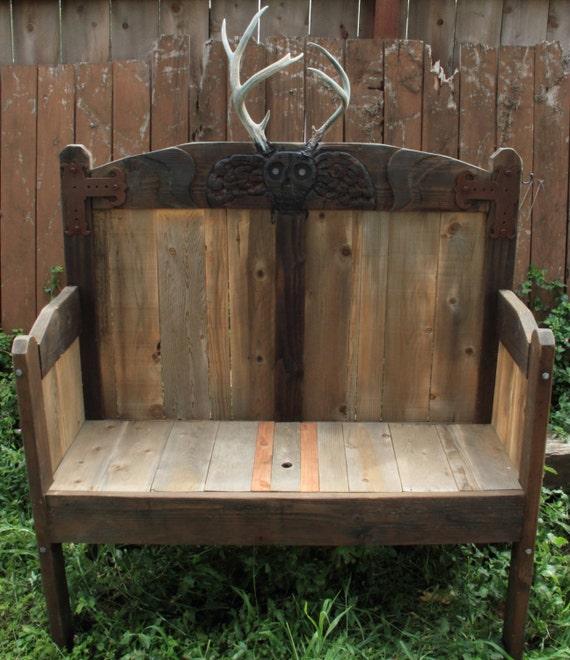 Amazing Horned Deaths Head Outdoor Storage Pew Bench Cjindustries Chair Design For Home Cjindustriesco