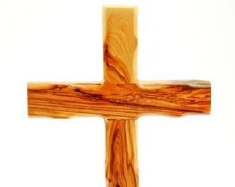 Bethlehem Olive Wood Catholic Wall Cross from the Holy Land