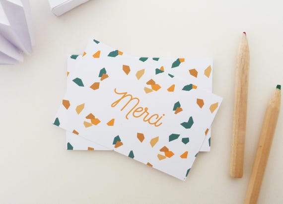 Lot of 18 mini Scandinavian-patterned thank you cards