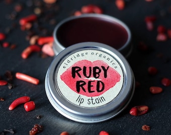 Ruby Red Lip Stain - Organic Lip Stain - Organic Makeup