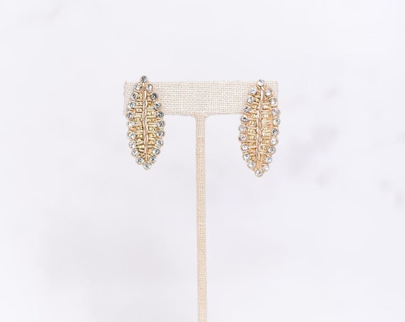 Gold Leaf Earbob