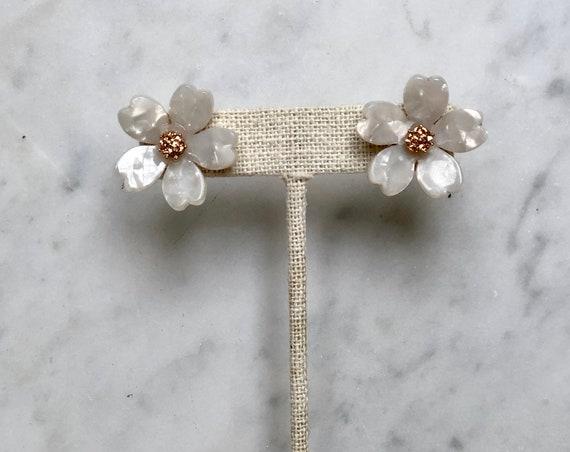 Cherry Blossom Stud (white)