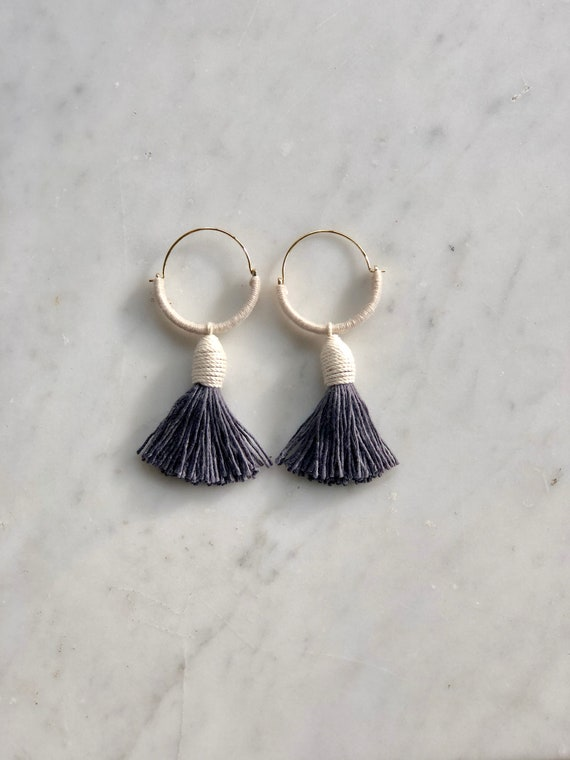 Earbobs - Gray or Goldenrod Tassel
