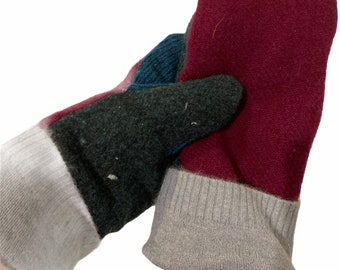 Vermont Made Upcycled Wool Mitten