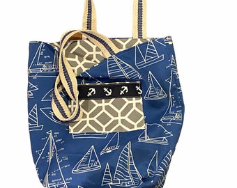 Reversible Fabric Tote Bag