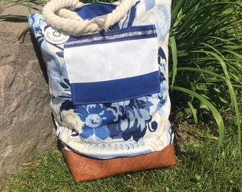 Reversible Fabric Tote Bag