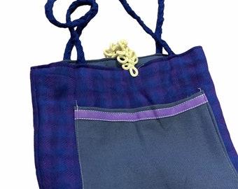 Reversible Vintage Wool Tote
